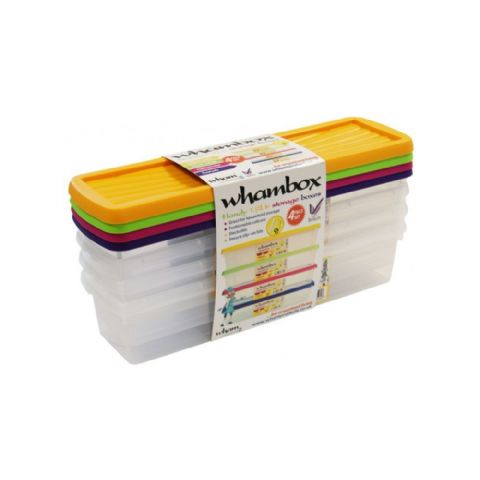 Whambox Handy 1.9L Storage Boxes Set of 4